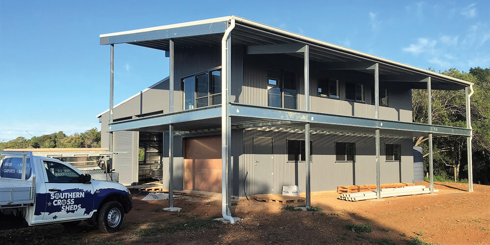 Shed homes southern cross sheds sunshine coast gympie for Shed and homes